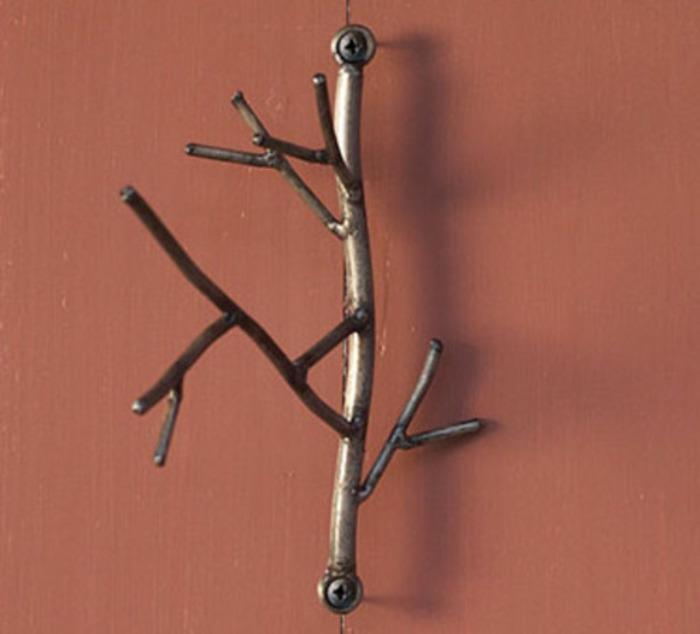 Ancient Graffiti Twig Wire Hook With Hardware