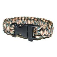 JB Outman Survival Bracelet With Whistle- Grey and Beige