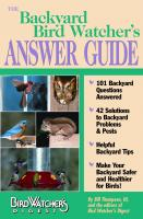 Bird Watcher's Digest Backyard Bird Watcher's Answer Guide