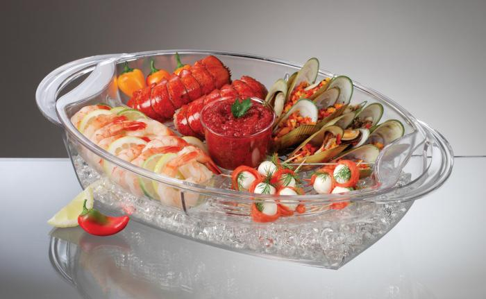 Prodyne AB7 Prodyne Buffet-On-Ice 4-Compartment Vented Food Tray