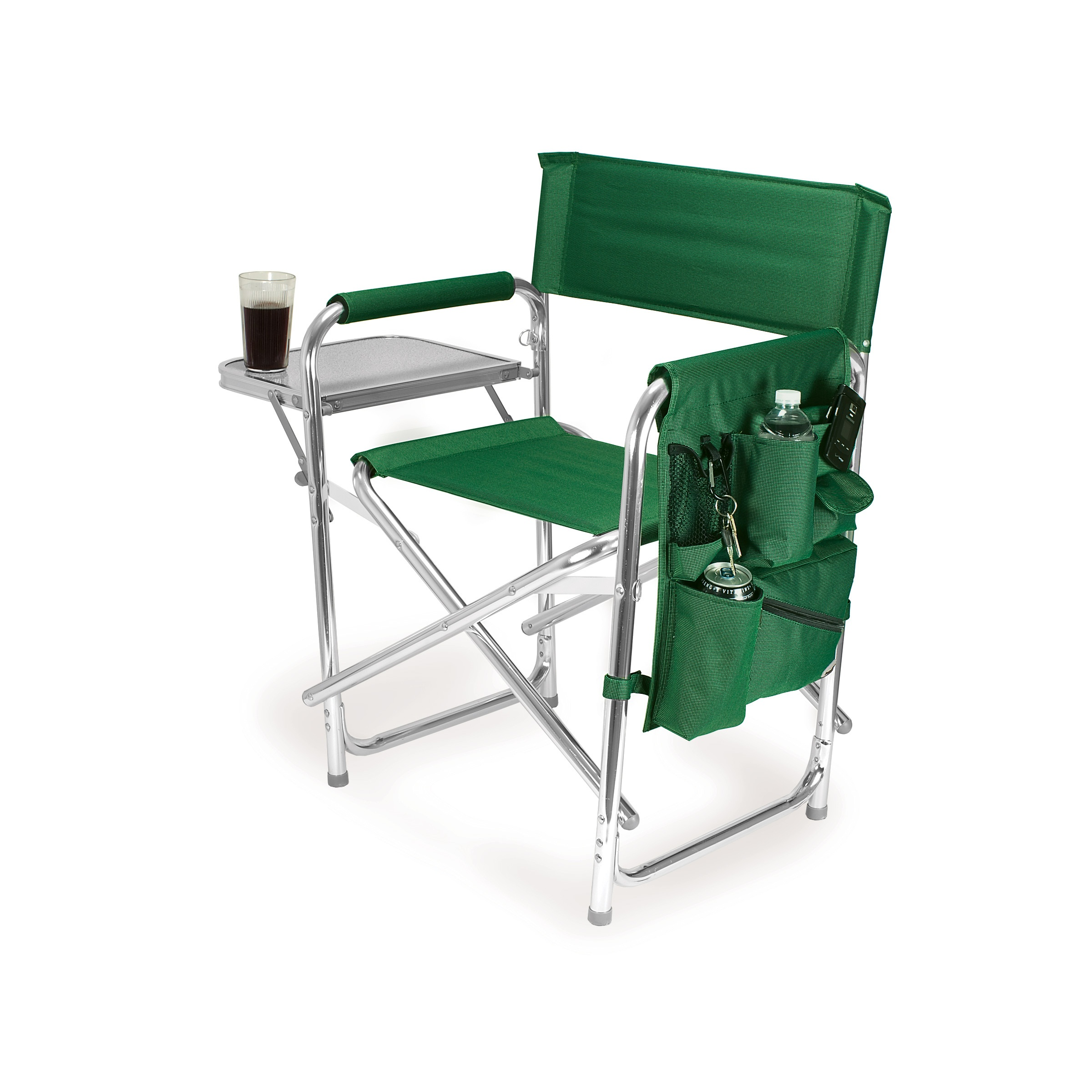 Picnic Time Green Portable Folding Sports Camping Chair