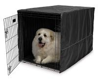 Mid-West Quiet Time Black Pet Crate Cover, 48""