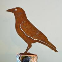 Elegant Garden Design Crow Bird Silhouette