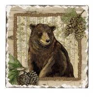 Counter Art Forest Trails Tumbled Tile Coasters Set of 4