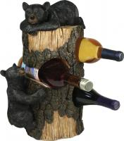 Rivers Edge Products Bears 3 Wine Bottle Holder