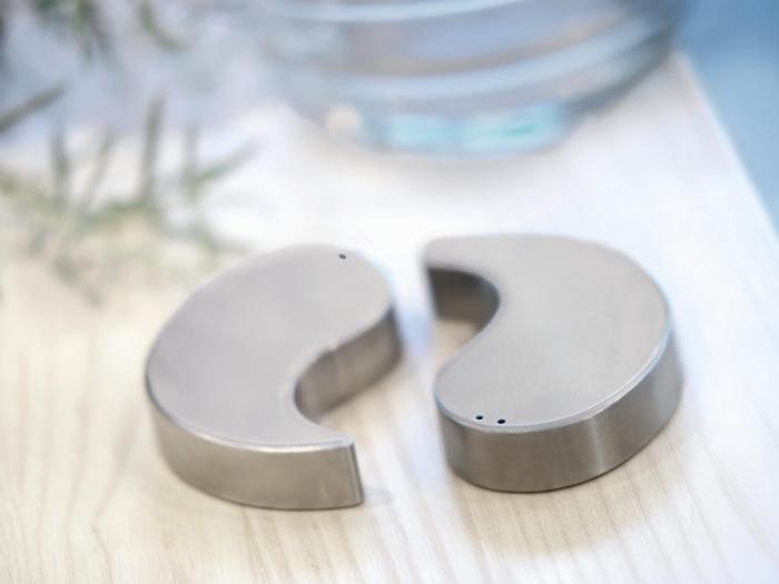 Herstal 1031031212 Steel Spice Ying Yang Salt and Pepper Shakers