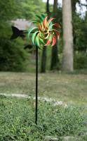Panacea 51 inch Multi-Colored Kinetic Art Windmill