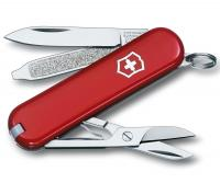 Victorinox Classic SD Swiss Army Knife, Red Cellidor Scales, 7 Functions