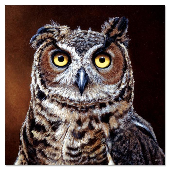 Tree Free Greetings Great Horned Owl Magnet