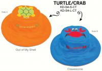 Luvali Convertibles Turtle Crab Reversible Kids' Hat Small
