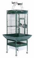 Small Wrought Iron Select Bird Cage - Jade Green
