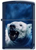 Zippo 239 Navy Blue Matte-Polar Bear