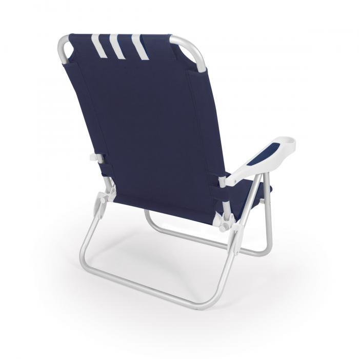 Picnic Time Monaco Beach Chair, Navy
