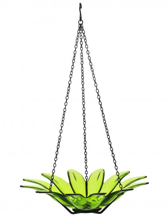 Couronne Company 12 inch Daisy Birdbath Lime