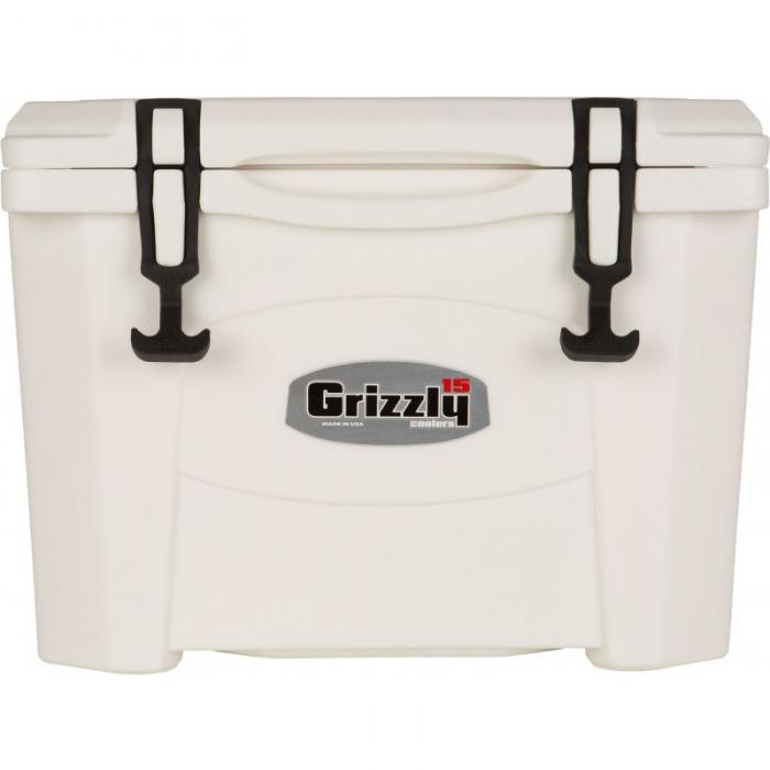 Grizzly 15 Quart RotoMolded Cooler, White