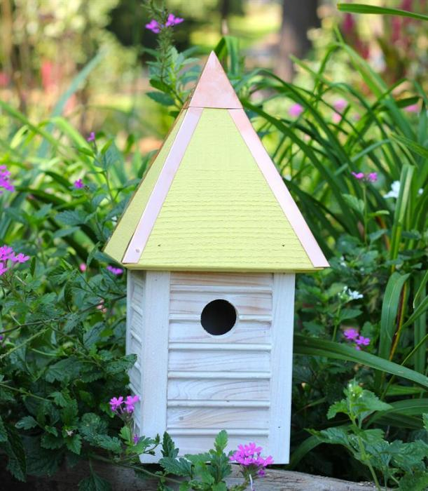 Heartwood Gatehouse Birdhouse, Yellow