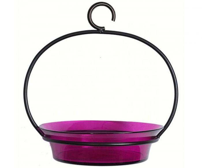 Couronne Company Fuchsia Cuban Bowl Birdbath