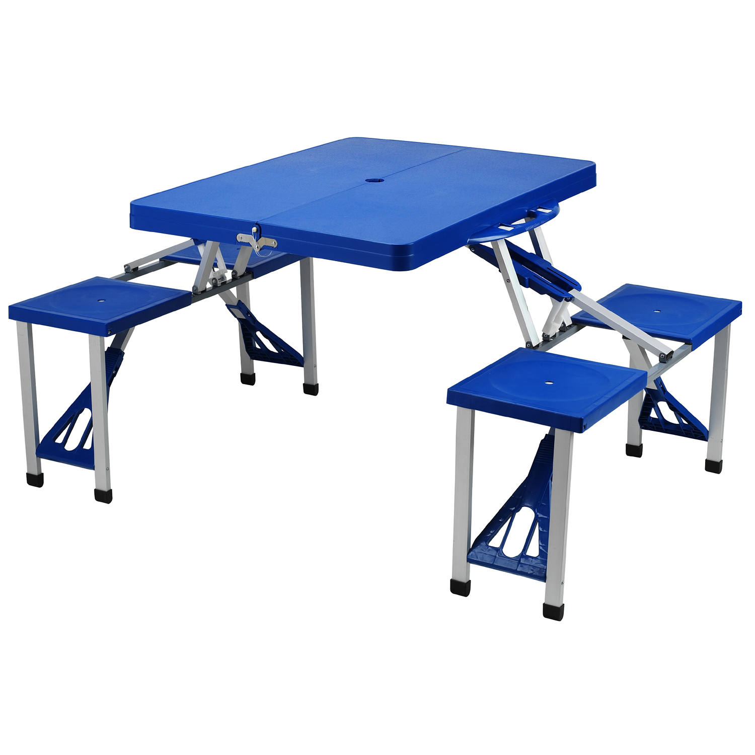 Picnic At Ascot Portable Picnic Table Set Blue