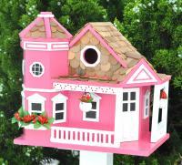 Home Bazaar Classic Series Sea Cliff Cottage Birdhouse (Honeysuckle)