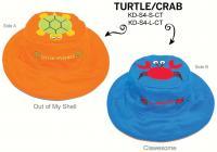 Luvali Convertibles Turtle Crab Reversible Kids' Hat, Large