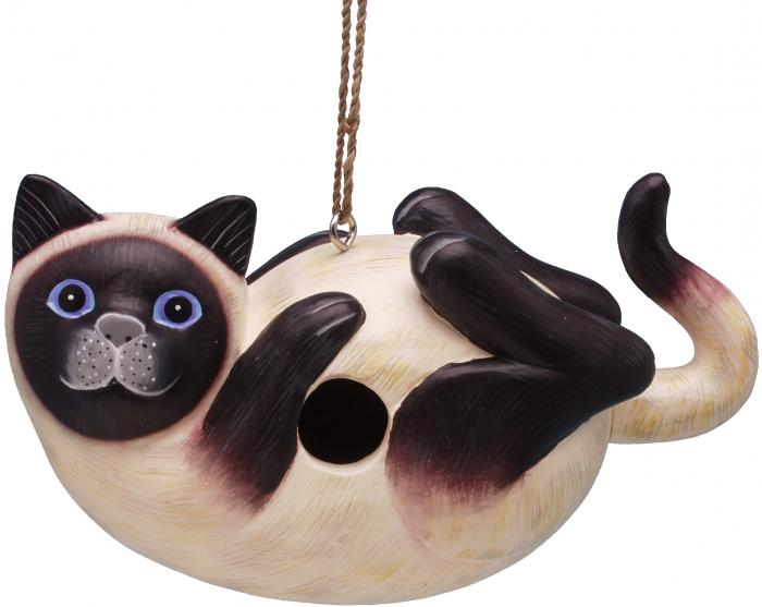 Songbird Essentials Siamese Cat on Back Birdhouse
