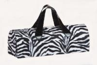 Picnic Plus Carlotta Clutch Wine Bottle Tote - Zebra Fur
