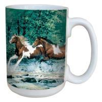 Tree Free Greetings Spring Creek Run Mug 15 oz