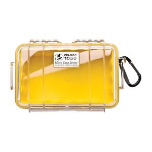 """Pelican Products Micro Case Clear, Yellow, 7.5"""" x 5.06"""" x 3.13"""""""