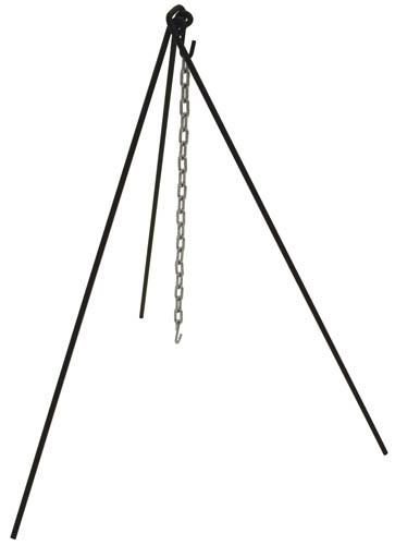 Bayou Classic Tripod Stand with Chain and Tote Bag