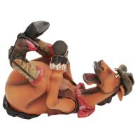 Rivers Edge Products Cowboy/horse Wine Bottle Holder