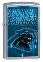Zippo Carolina Panthers Street Chrome Lighter