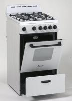 Avanti White Gas Range 20 Inch With Sealed Burner