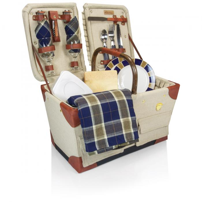 Picnic Time Pioneer Canvas/ w/Deluxe Service for 2