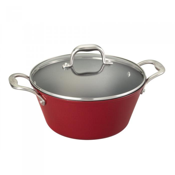 Guy Fieri Guy Light Weight Cast Iron 5.5qt Dutch Oven Red