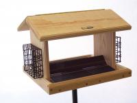 Birds Choice 11 Quart Cedar 2-Sided Bird Feeder with Suet Cages