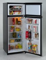 Avanti 7.4 CF Two Door Apartment Size Refrigerator - Black w/Platinum Finish