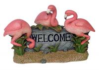 Design Toscano Pink Flamingo Welcome Statue