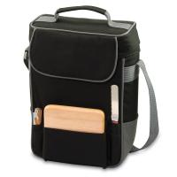 Picnic Time Duet 2 Bottle Wine & Cheese Tote w/ Accessories,Black