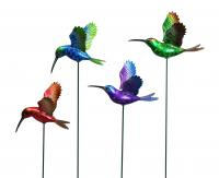"Exhart 7"" Windy Wings Hummingbird Garden Stake Assortment (1 box contains 24)"