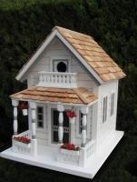 Home Bazaar Newburyport Cottage Birdhouse - White
