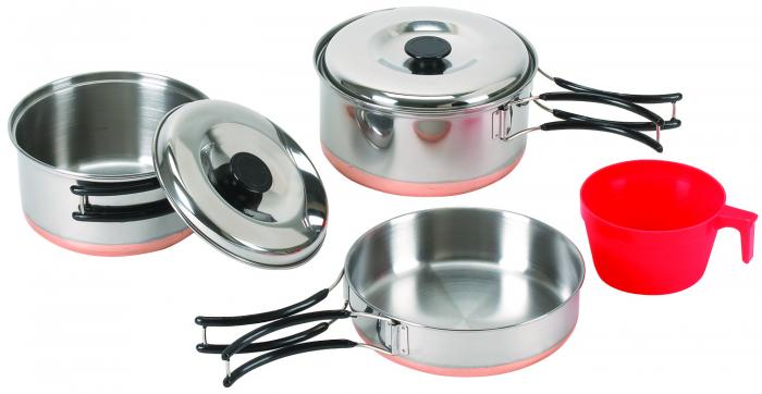 Stansport One Person Stainless Cook Set