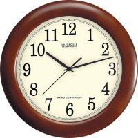 """La Crosse Technology 12"""" Wood Atomic Analog Wall Clock, Walnut"""