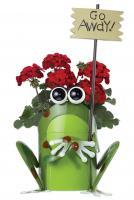 Sunset Vista Designs Get Happy Frog Planter