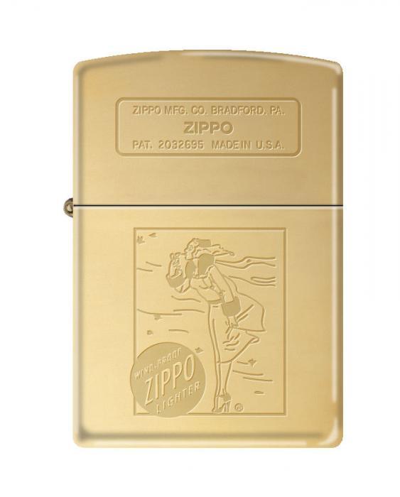 Zippo 254B Windy Girl Luster Polish Brass