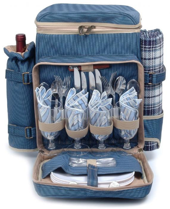 Picnic & Beyond Posh Camper 4 Person Picnic Pack