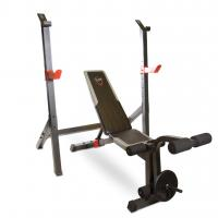 Cap Barbell Strength Olympic Weight Bench w/ Squat Rack