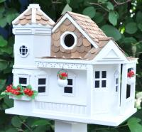 Home Bazaar Classic Series Sea Cliff Cottage Birdhouse (White)