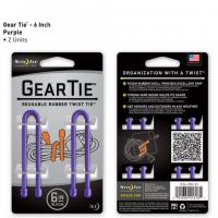 "Nite-ize Gear Tie 6"" 2 Pack - Purple"