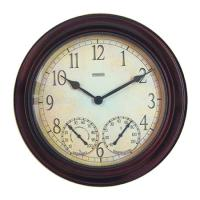 """Springfield 14"""" Clock with Thermometer"""