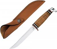 Case Cutlery 316-5 SS Fixed Blade Leather Hunter Knife with Leather Sheath